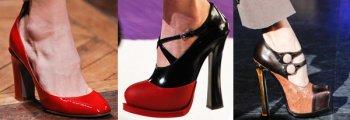 Популярная обувь осень 2012