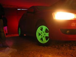 Светящаяся краска на авто дисках